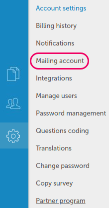 Mailing account