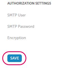 Mailing settings-SAVE button