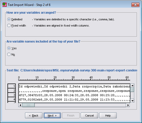 SPSS - CSV import tutorial (step 4)