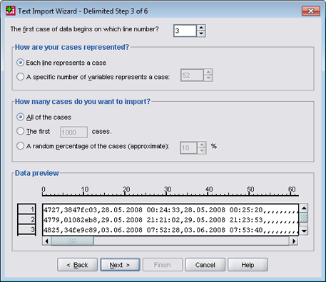 SPSS - CSV import tutorial (step 5)