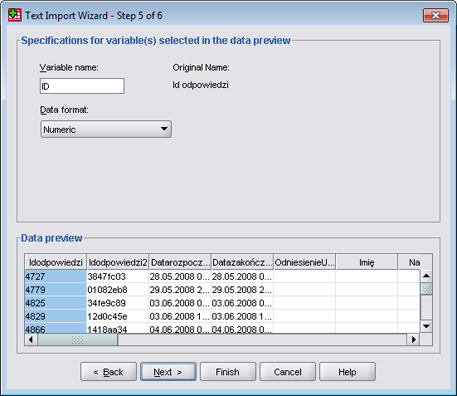 SPSS - CSV import tutorial (step 7)