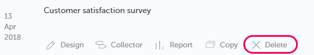 delete survey
