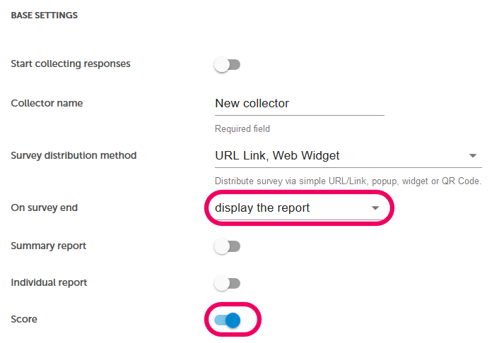 display the report in test
