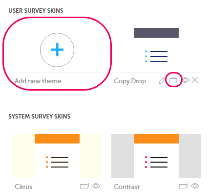 new theme for survey